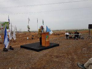 טלאל אלקרינאוי, ראש העיר רהט מברך באירוע הנטיעות