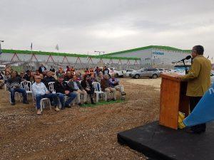 טלאל אלקרינאוי ראש העיר רהט מברך באירוע הנטיעות